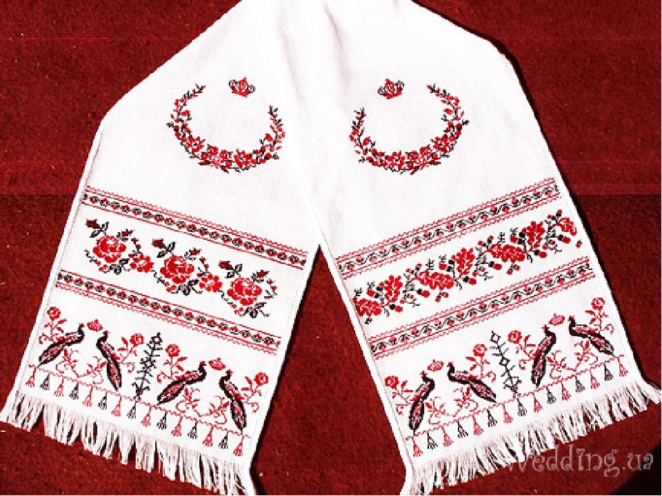 Свадебное полотенце с вышевкой