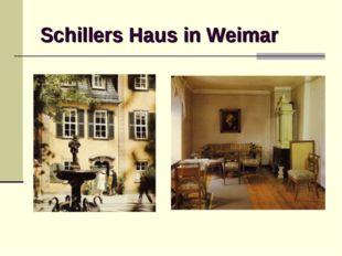 Schillers Haus in Weimar