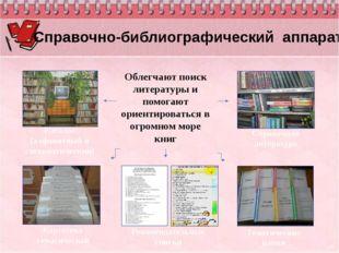 Справочная литература Картотека тематическая Облегчают поиск литературы и по
