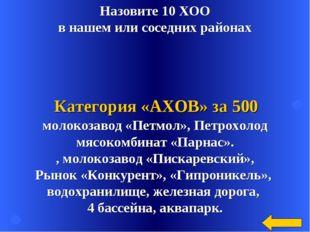 Назовите 10 ХОО в нашем или соседних районах молокозавод «Петмол», Петрохолод