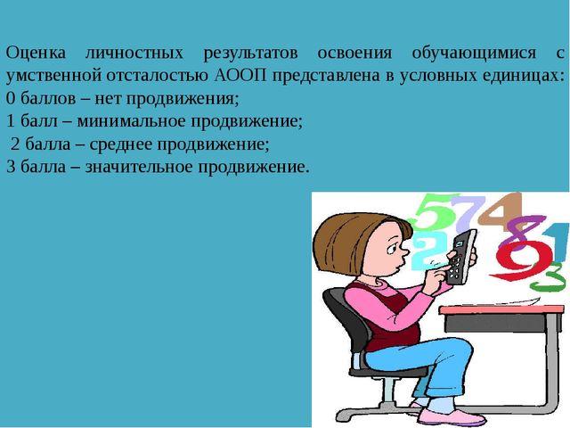 Оценка личностных результатов освоения обучающимися с умственной отсталостью...