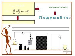 F выт. = g ρжV [ F ] = Fвыт. = Р выт. жидк. Теоретическая формула даёт способ