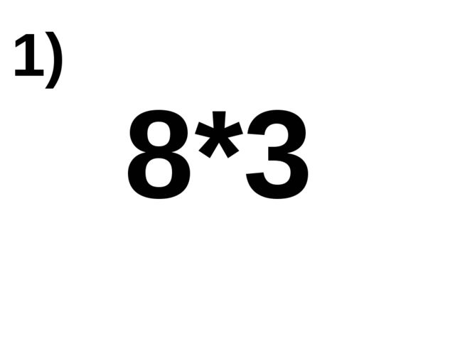 8*3 1)