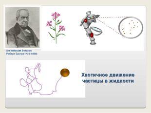 Хаотичное движение частицы в жидкости Английский ботаник Роберт Броун(1773-18