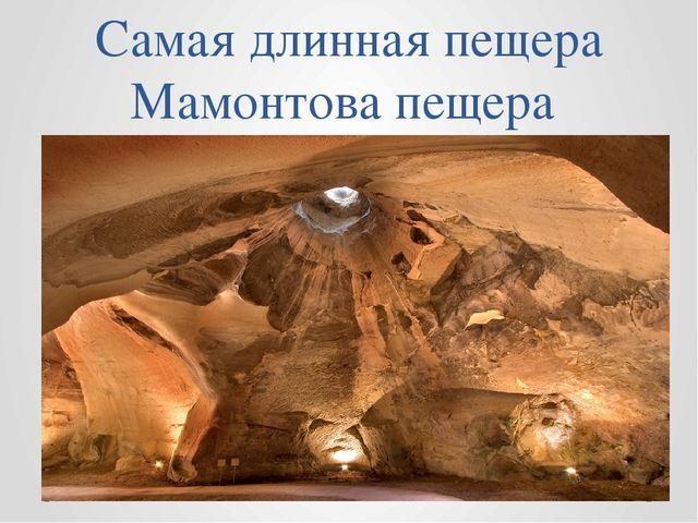 Самая длинная пещера Мамонтова пещера