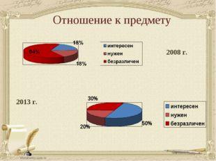 Отношение к предмету 2013 г. 2008 г.