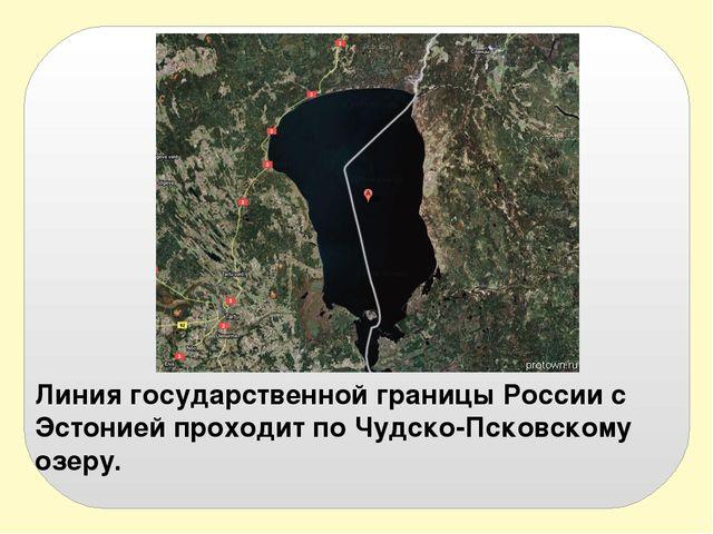 Линия государственной границы России с Эстонией проходит по Чудско-Псковскому...