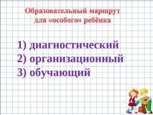 диагностический организационный обучающий