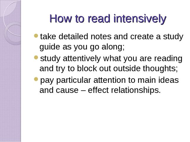 How to read intensively take detailed notes and create a study guide as you g...