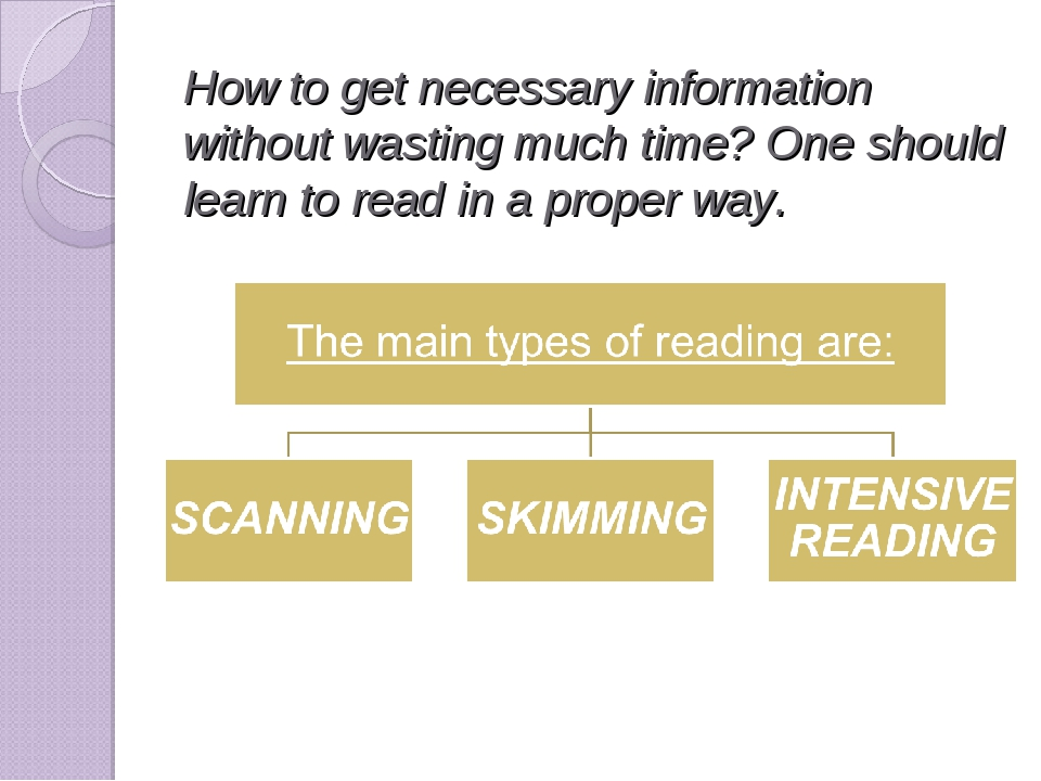 How to get necessary information without wasting much time? One should learn...