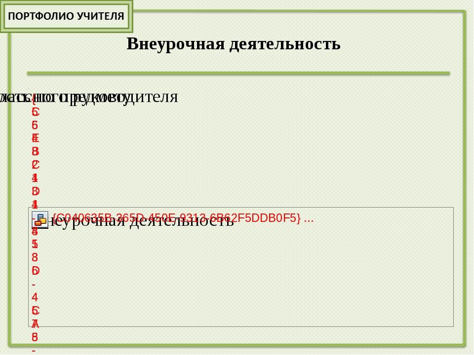 Результаты внеурочной деятельности Год Номинация Результат 2012 ,2013г.г. Уча...