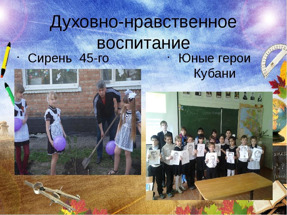 Духовно-нравственное воспитание Сирень 45-го Юные герои Кубани