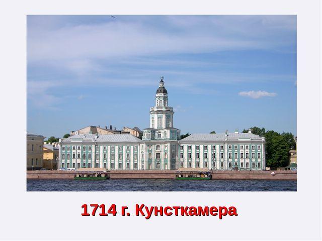 1714 г. Кунсткамера