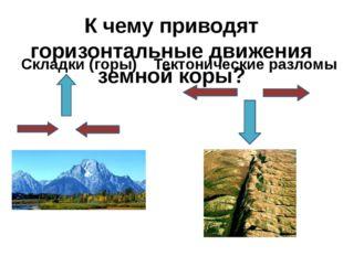 К чему приводят горизонтальные движения земной коры? Складки (горы) Тектониче