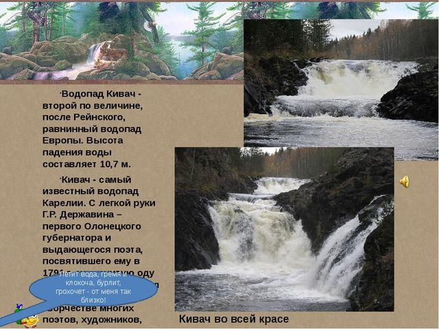 Водопад Кивач - второй по величине, после Рейнского, равнинный водопад Европ...