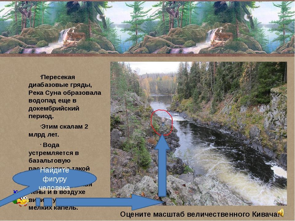 Пересекая диабазовые гряды, Река Суна образовала водопад еще в докембрийский...