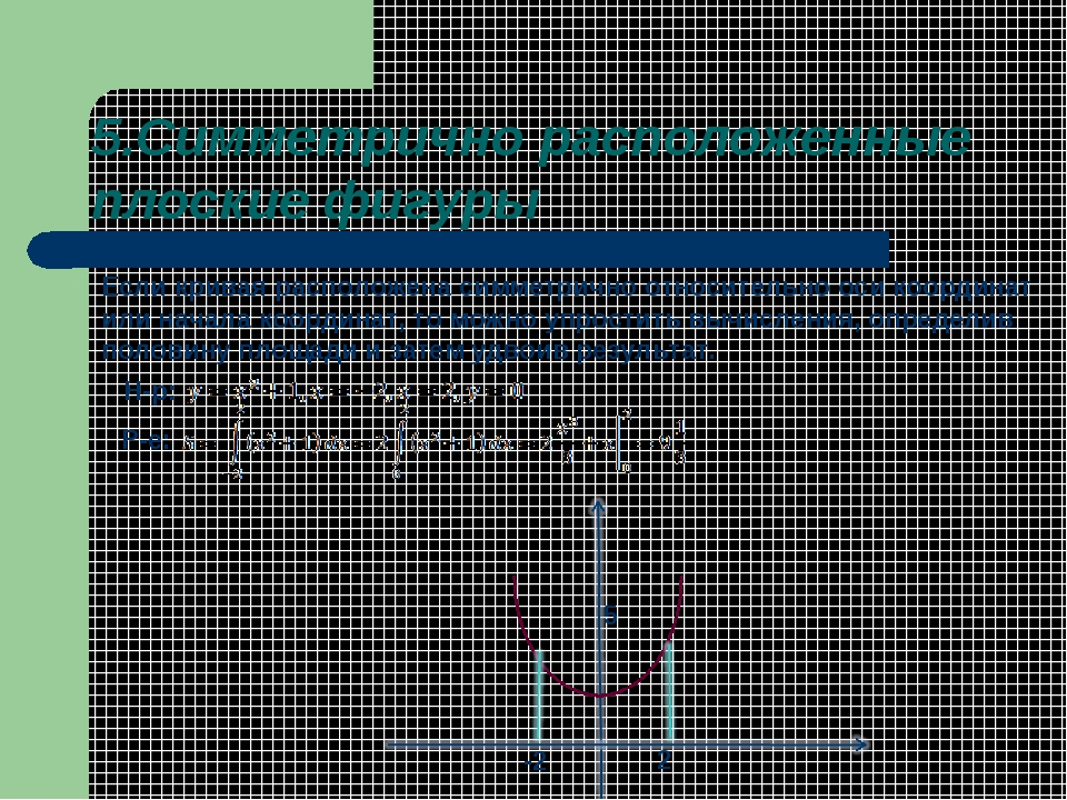 5.Симметрично расположенные плоские фигуры Если кривая расположена симметричн...