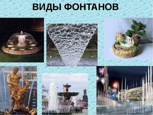 ВИДЫ ФОНТАНОВ