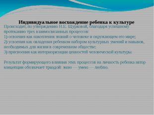 Происходит, по утверждению Н.Е. Щурковой, благодаря успешному протеканию трех