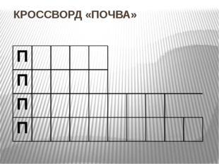 КРОССВОРД «ПОЧВА» П П П П