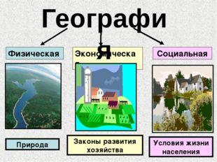 Физическая Экономическая Социальная Законы развития хозяйства Условия жизни н