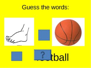 Guess the words: football