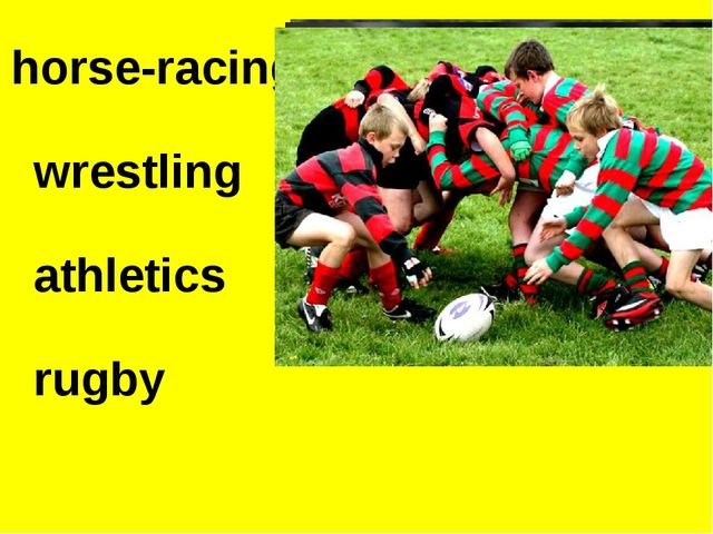 horse-racing wrestling athletics rugby