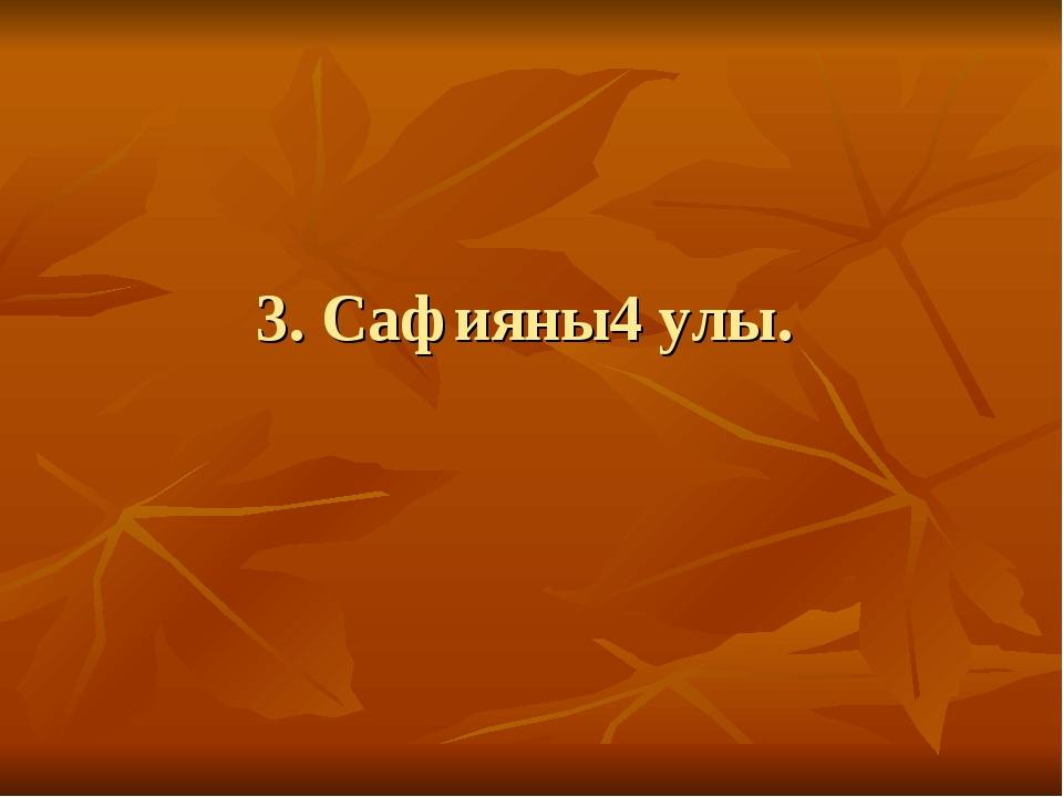 3. Сафияны4 улы.