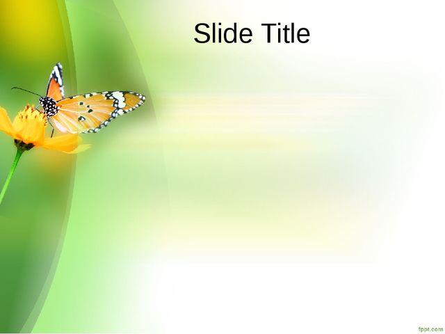Slide Title
