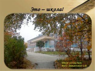 Это – школа! МКОУ «СОШ №3» Фото Завьяловой О.В. *