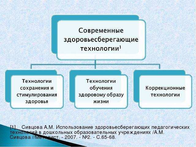 [1]Сивцова А.М. Использование здоровьесберегающих педагогических технологий...