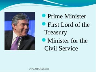 Prime Minister First Lord of the Treasury Minister for the Civil Service www