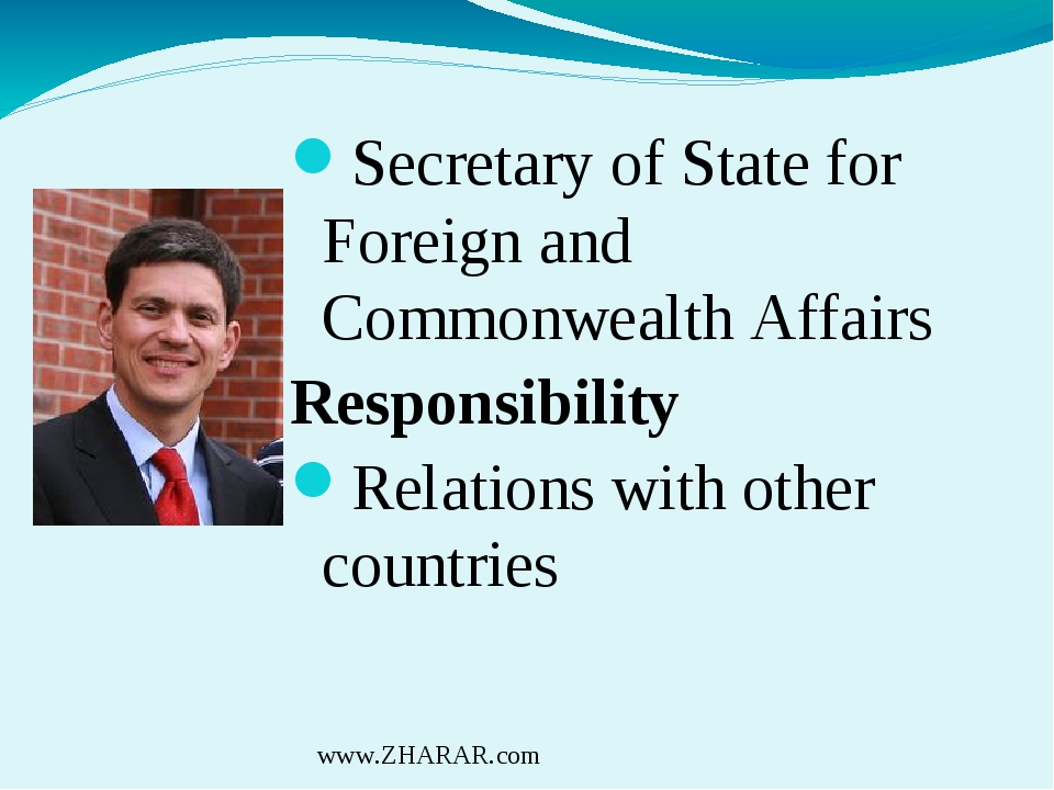 Secretary of State for Foreign and Commonwealth Affairs Responsibility Relati...