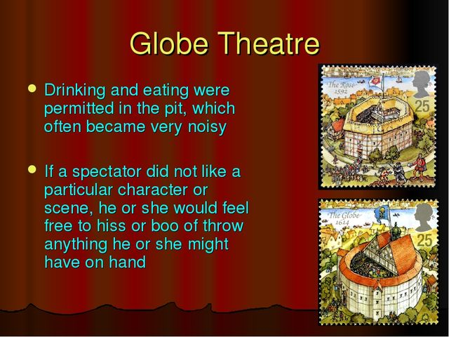 Drinking and eating were permitted in the pit, which often became very noisy...