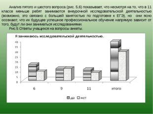 Анализ пятого и шестого вопроса (рис. 5,6) показывает, что несмотря на то, чт