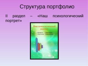 Структура портфолио II раздел – «Наш психологический портрет»