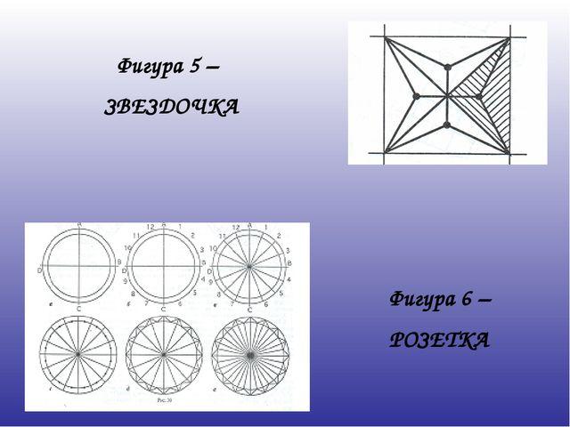Фигура 5 – ЗВЕЗДОЧКА Фигура 6 – РОЗЕТКА