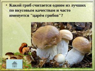 Какой гриб считается одним из лучших по вкусовым качествам и часто именуется