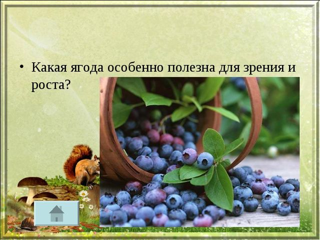 Какая ягода особенно полезна для зрения и роста?