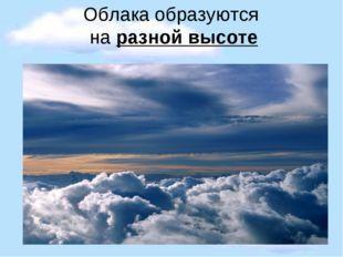 Облака образуются на разной высоте
