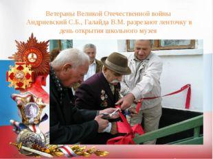 Ветераны Великой Отечественной войны Андриевский С.Б., Галайда В.М. разрезают