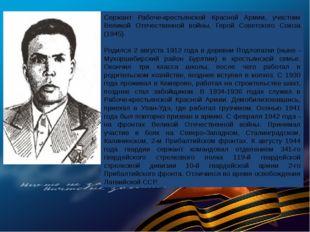 Сержант Рабоче-крестьянской Красной Армии, участник Великой Отечественной вой