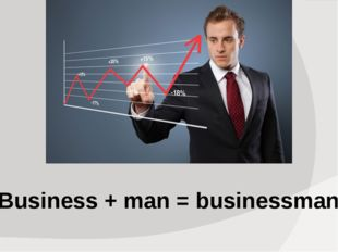 Business + man = businessman