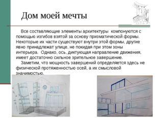 Дом моей мечты Все составляющие элементы архитектуры компонуются с помощью из