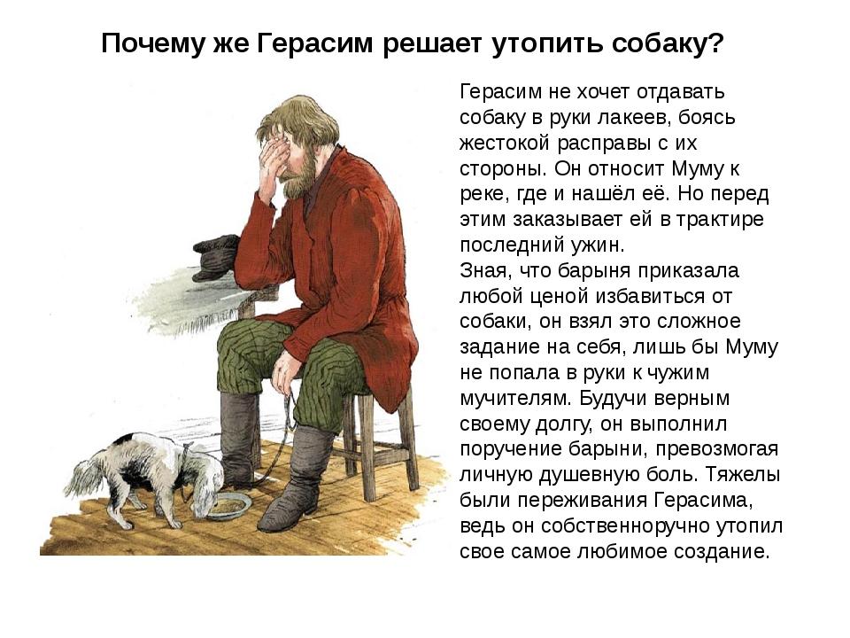 Почему герасим назвал собаку муму 5 класс