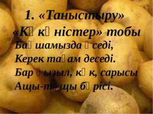1. «Таныстыру» «Көкөністер» тобы Бақшамызда өседі, Керек тағам деседі. Бар қы
