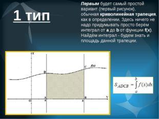 Первымбудет самый простой вариант (первый рисунок), обычнаякриволинейная тр
