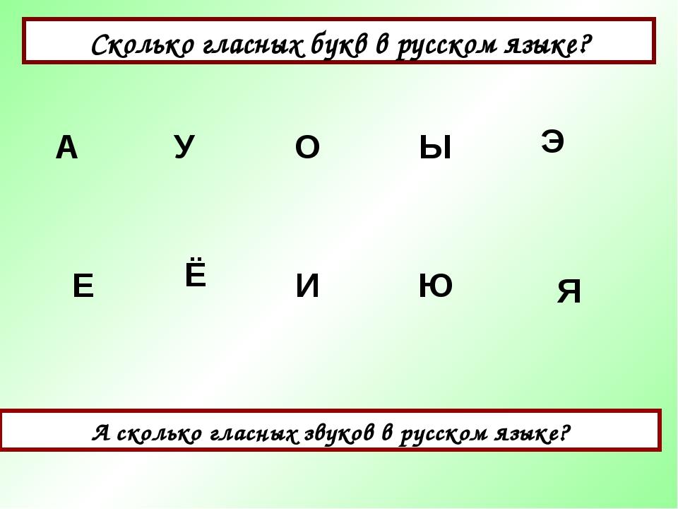 Сколько гласных букв в русском языке? А сколько гласных звуков в русском язык...