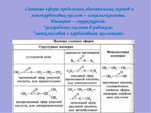 Сложные эфиры предельных одноатомных сиртов и монокарбоновых кислот – алкила