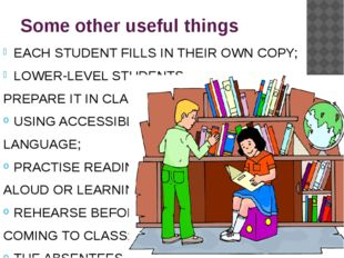 Some other useful things EACH STUDENT FILLS IN THEIR OWN COPY; LOWER-LEVEL ST